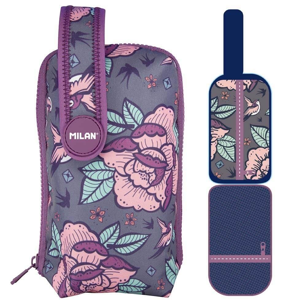 Estuche Milan Flowers Pink 8 Piezas: Amazon.es: Oficina y papelería