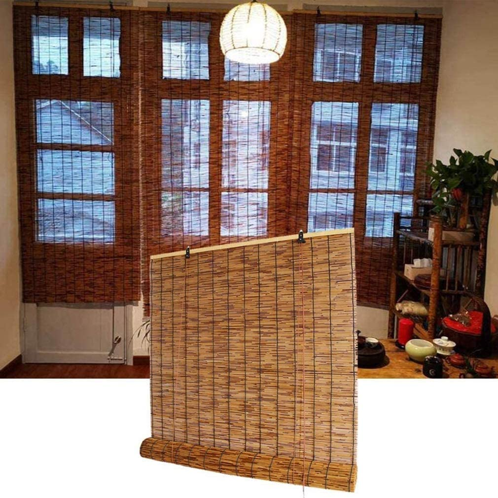 Cheap bargain ZDDY Patio Bamboo Roll Up Shade Outdoor trust Reed Natural Curtain Rol