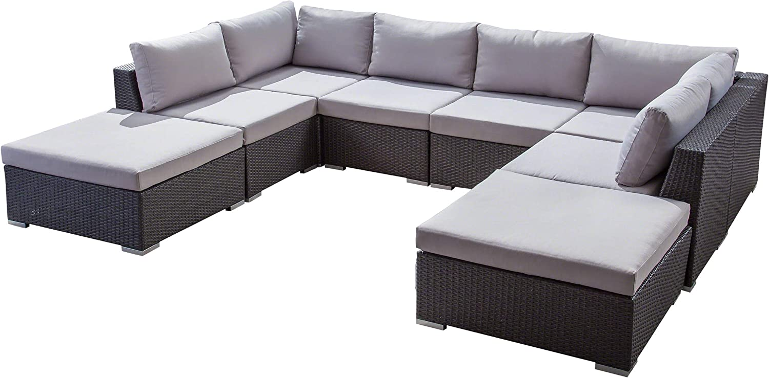 Salome Ranking TOP15 Outdoor 6 Seater Wicker Sofa and Aluminum Set wholesale Frame with