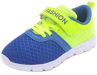 PPXID Boy's Girl's Mesh Breathable Hook and Loop Casual Sneaker Running Shoes