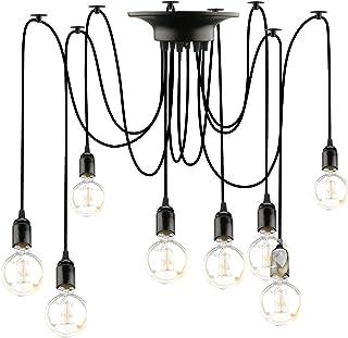 Lovebay Éclairage Plafond Araignée vintage Lustre Lampe, Lustres Araignée Luminaire Suspendu 1.8m Ajustable E27 Industriel...