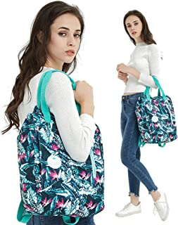 Rjj Lightweight Large Capacity Shoulder Computer Backpack Female Casual Fashion Shoulder Bag Male Outdoor Travel Multi-Function Color Handbag Water Repellent Exquisite (Color : Green)