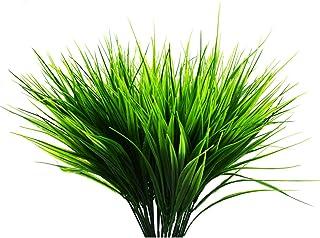 Pack de 5 plantas artificiales para exteriores - plástico falso arbustos verdes de trigo hierba arbustos flores para interior exterior casa casa jardín oficina boda fiesta decoración