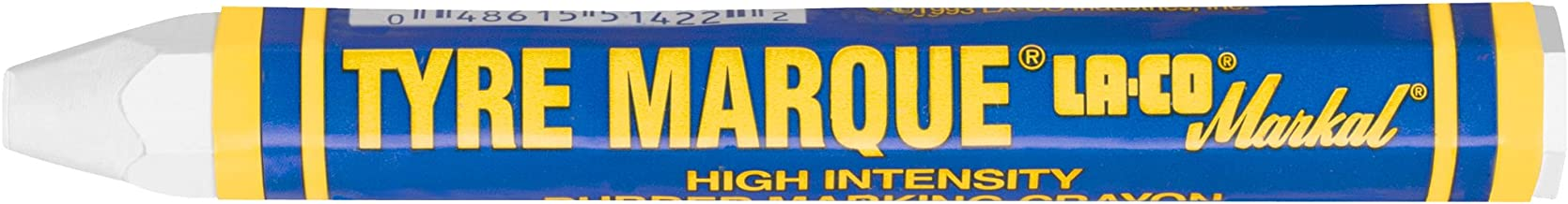 Markal Tyre Marque Tire Marking Crayon for Temporary Tire Marking, -20 to 130 Degree F Temperature, 1/2