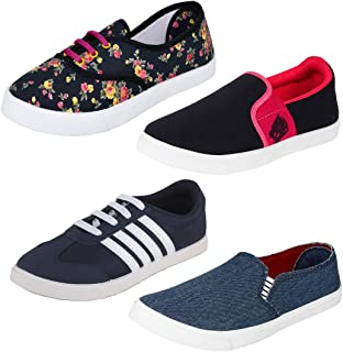 Earton Women Combo Pack of 4 Casual Sneaker Shoes with Loafer & Maccosins Shoe