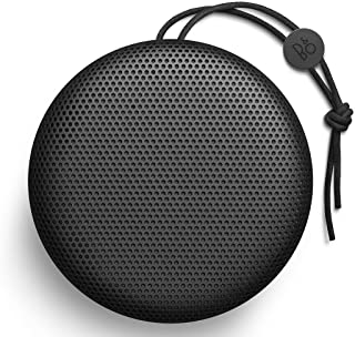 Bang & Olufsen Beoplay A1 Portable Bluetooth Speaker, Wireless Splash and Dust Resistant Speaker with Built-In Microphone, Black