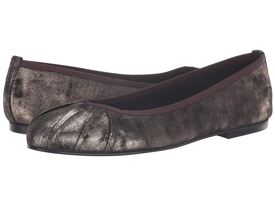 French Sole Commute Flat (Brown Metallic Suede) Women