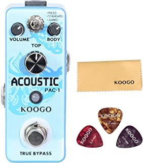 Koogo Acoustic Guitar Effect Pedal Acoustic Guitar Simulator Pedal for Violin Bass