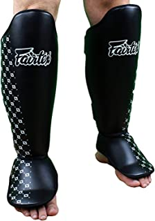 Fairtex Competition Muay Thai Shin Guards, SP5 - Black, Blue, Yellow, Red