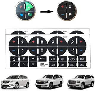 YYC AC Dash Button Repair Kit Decal Sticker Replacement for Chevrolet GMC Tahoe Yukon Acadia Sierra, 2pcs
