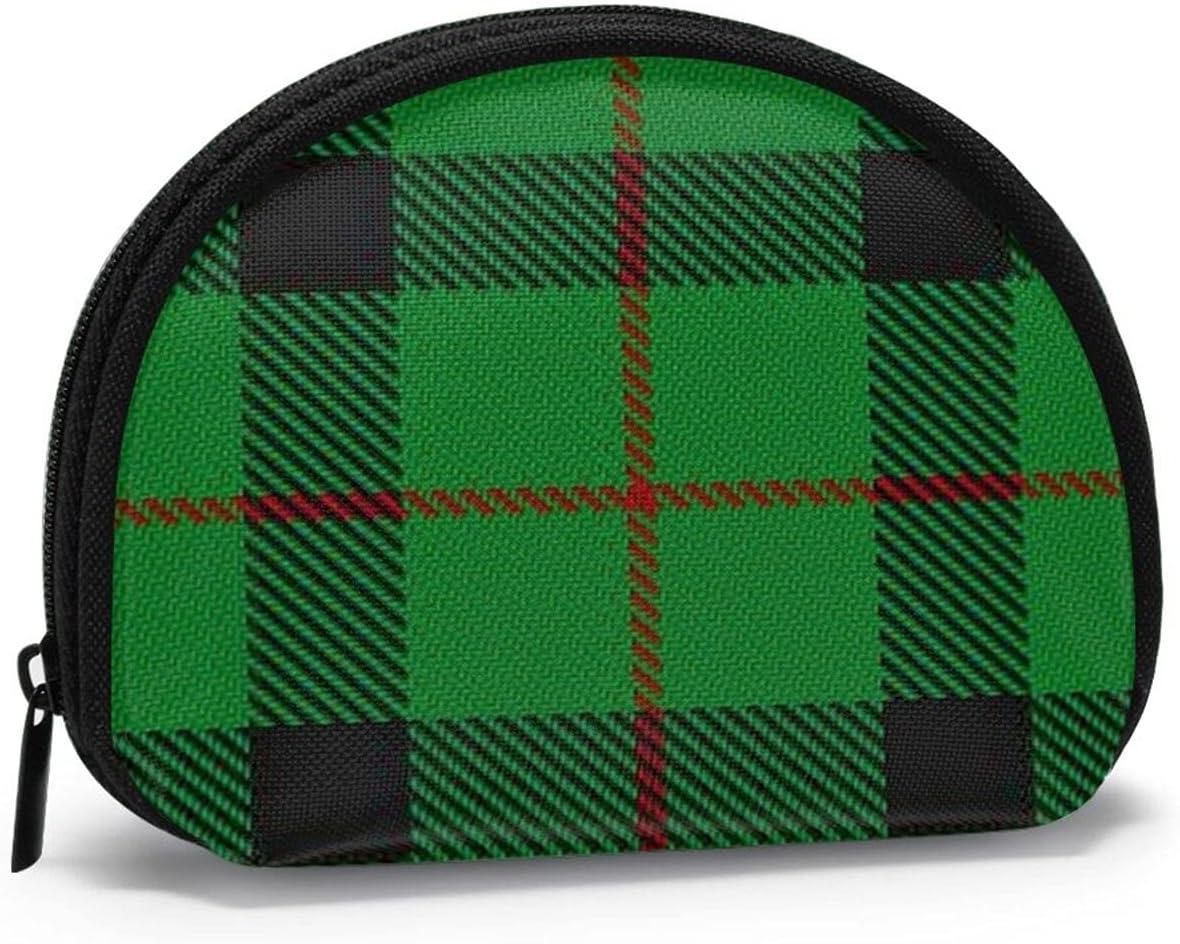 small zipper Coin Purses Vintage zipper Pouch Change Purse Wallets Scottish Clan Kincaid Tartan