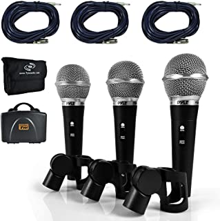 Pyle 3 Piece Professional Dynamic Microphone Kit Cardioid...