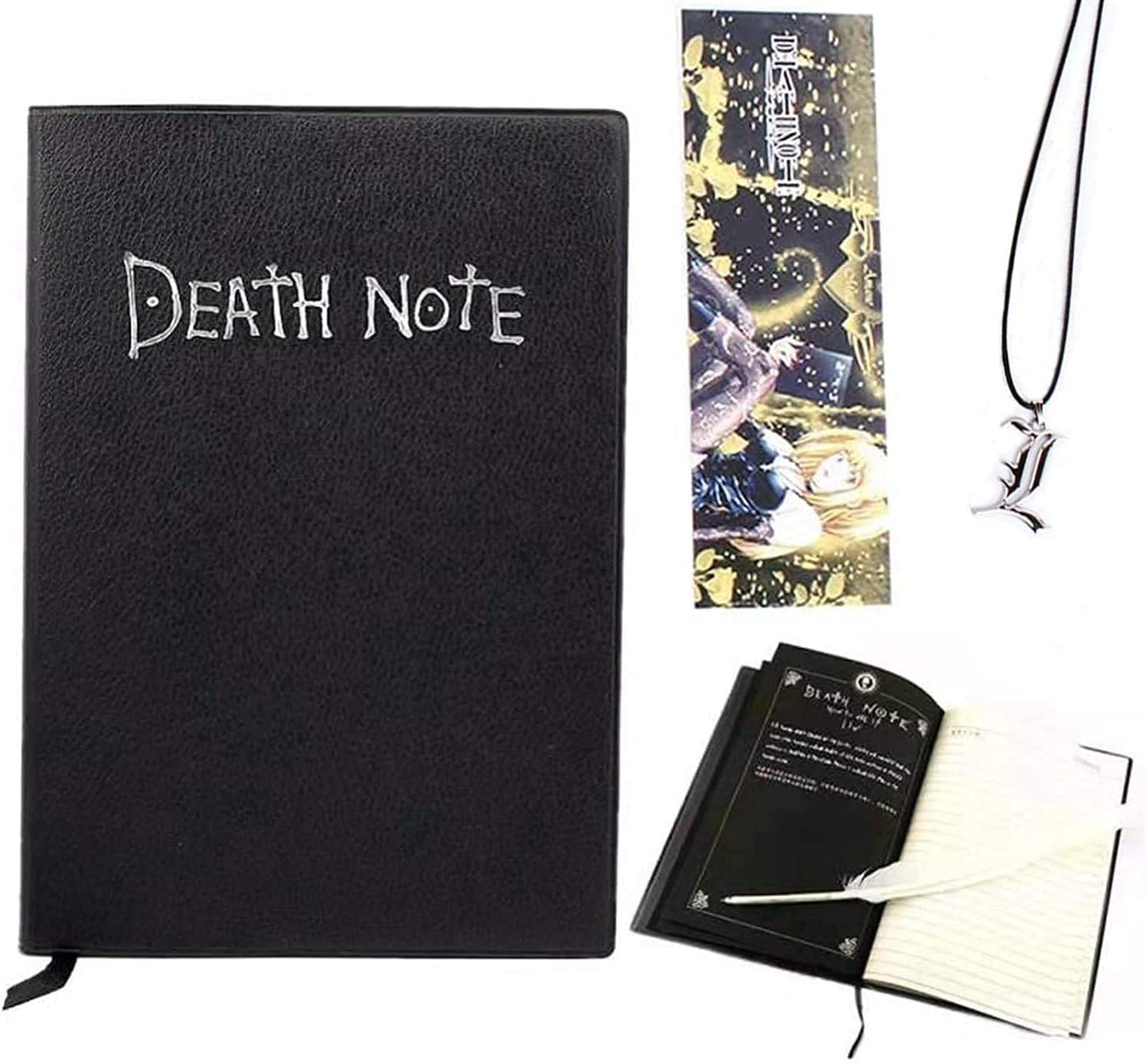 Cuaderno Death Note con bolígrafo, cuaderno de cosplay Death Note con tema de anime de moda, regalos para amantes de cosplay, se puede usar como diario y cuaderno
