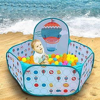LDAOS Safety Protection Baby Ball Pool,Durable Baby Bath Swimming Pool Folding GG-45I1 Ball Pit Pool Fun Backyard Toy