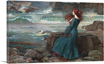 ARTCANVAS Miranda The Tempest 1916 Canvas Art Print by John William Waterhouse - 26