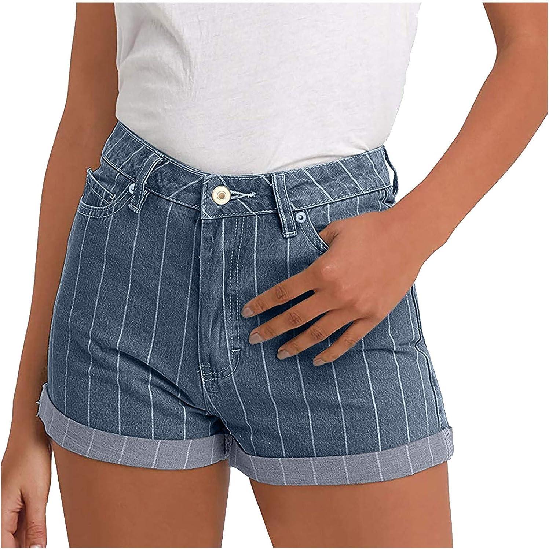 Striped Denim Shorts High Japan Maker New Waisted Women online shop Junior Jeans for
