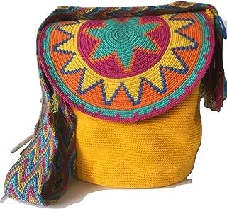 Wayuu Cute Crossbody Bags for Women Tribal Shoulder Crochet Handwoven Mochila (Large, FlapTop1)