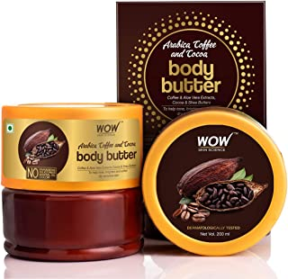WOW Skin Science Arabica Coffee and Cocoa Body Butter for All Skin Type- No Parabens, Silicones, Mineral Oil and Color, 20...