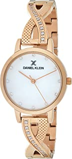 Daniel Klein Women's Quartz Watch, Analog Display and Stainless Steel Strap DK12043-2