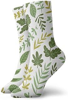 wwoman, Calcetines de vestir estampados para hombres y mujeres Ensalada Verdes y hojas Calcetines coloridos divertidos y novedosos Crazy Crew 30 cm