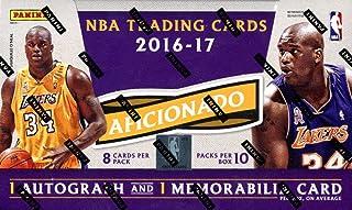 2016-17 Panini Aficionado Basketball Hobby Box (10 Packs of 8 Cards: 1 Autograph, 1 Memorabilia, 20 Inserts)