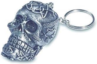 Biomar Labs 3D Metal Porte-cl/és Skull Cr/âne des Fleurs Punisher Cadeau pour Homme et Femme KK 193