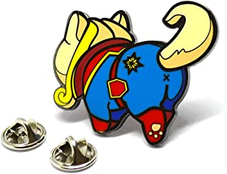 Cat Enamel Pin Superhero Cat Butts Lapel Pins Marvel and DC Comics Universe Characters (Captain Marvel)