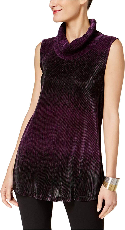 Alfani Womens Sleeveless Knit Blouse