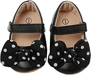 Infant Baby Girl First Walkers Solid Shoes PU Newborn Soft Sole Spring Autumn Toddler Shoes (Baby Age : 0-6 Months, Color...