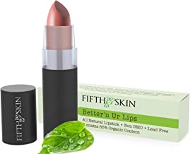 Fifth & Skin (MAUVE SUEDE) Better'n Ur Lips Natural Lipstick - Organic Lipstick - Gluten Free Lips - Cruelty Free Lip Colo...