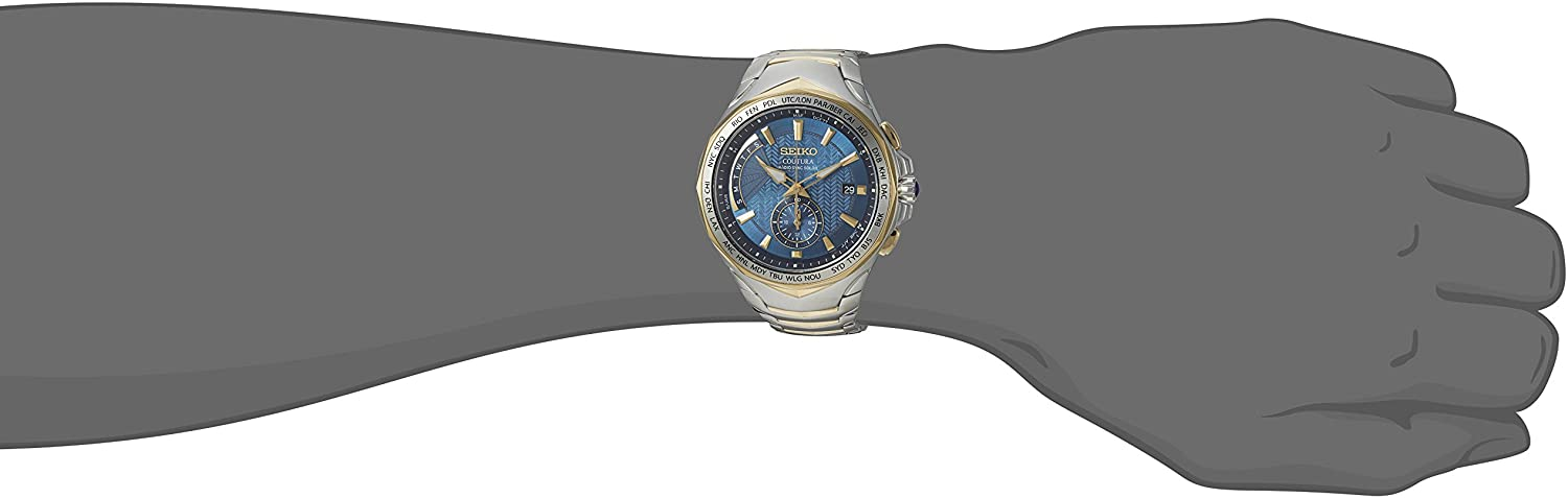Coutura Mens Radio Sync Solar Dual Time Watch