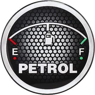 Sepia Universal Car Fuel Badge Sticker (Black and Grey)