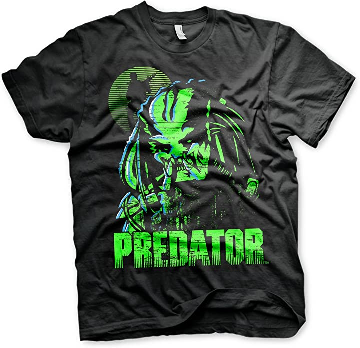 T-shirt the predator licenza ufficiale prossoator maglietta da uomo (nera) B07DH7M4Y9
