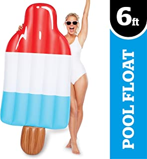 BigMouth Inc.Ice PopPool Float –Gigantic 6 Foot Pool Float, Funny Inflatable Vinyl Summer Pool or Beach Toy, Makes a Great Gift Idea, Patch Kit Included