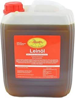 Horse-Direkt Premium Leinöl 2,5 Liter Kanister Für Pferde, Hunde & Katzen- Leinsamenöl Kaltgepresst Zum Barfen Für Das Tier - Natürlicher Futterzusatz Zur Unterstützung