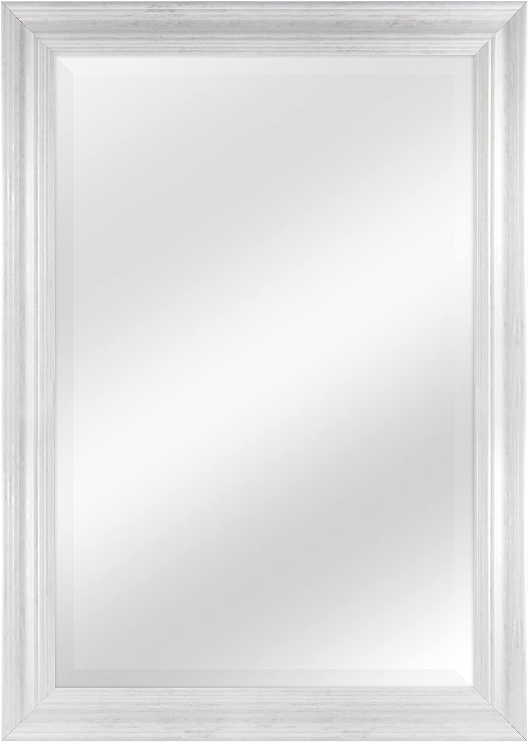 MCS 24 x36  Scoop Mirror 29.5 x41.5  Outside Dimension with White Wash Finish