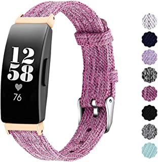NANW Compatible with Fitbit Inspire HR/Inspire Bands Large Small, Woven Fabric Accessories Strap Wristband Women Men for I...
