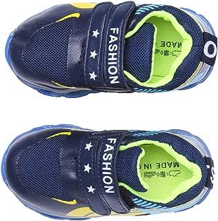Hopscotch Boys PU Double Velcro LED Shoes in Blue Color