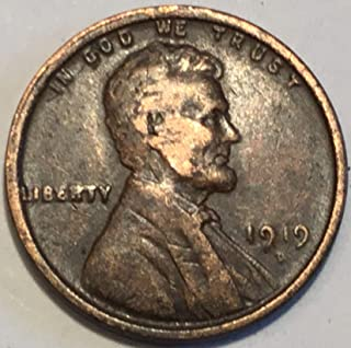 1919 D Lincoln Wheat Cent Penny Very Fine