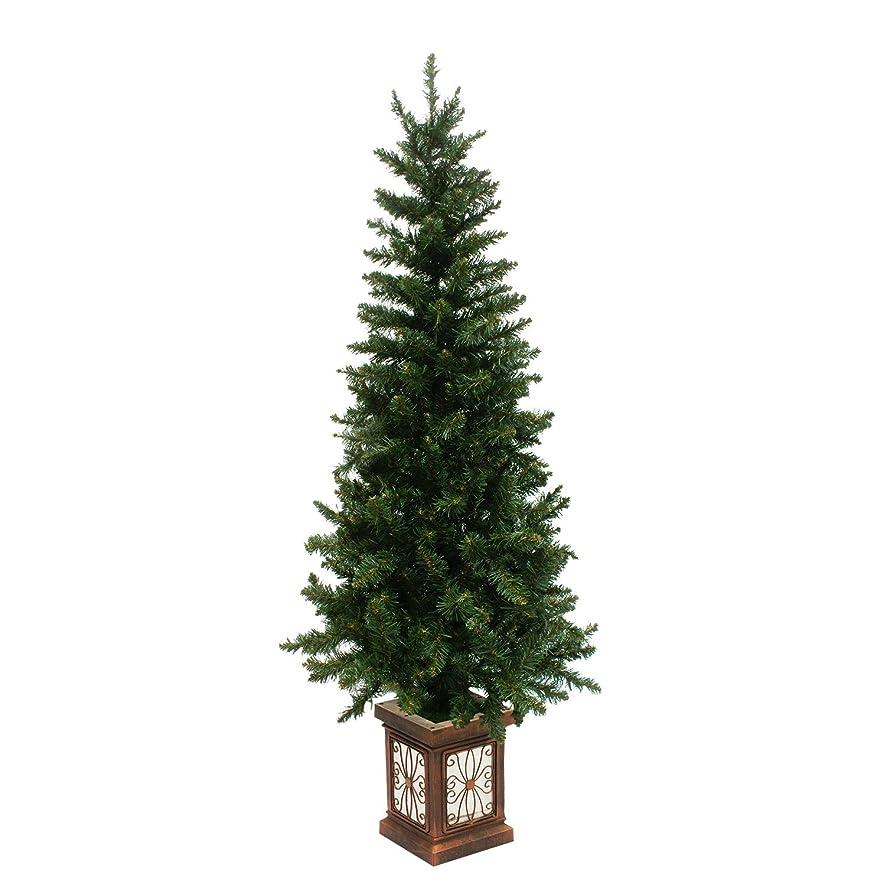 カラス愚かなマキシムクリスマスツリー フィルムポットツリー 高級ポットツリー 組み立て式 (150cm, スリム)