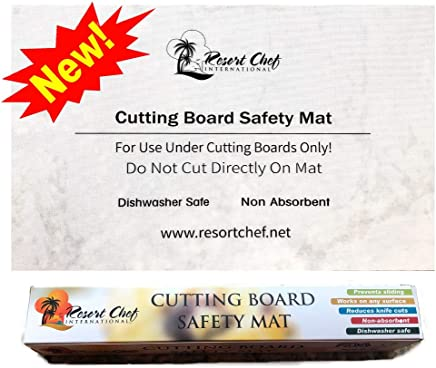 Non-Slip Safety Kitchen Cutting Board Mat - Hygienic Non-Absorbent and Dishwasher Safe. by Resort Chef. New!