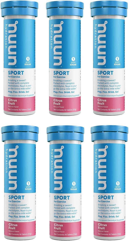 ご注文で当日配送 Nuun Active Citrus Fruit Electrolyte Enhanced Tablets Drink 本物 6-P