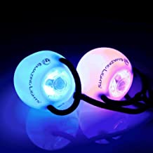 EmazingLights Elite Flow Rave Poi Balls - Spinning LED Light Toy (Set of 2)