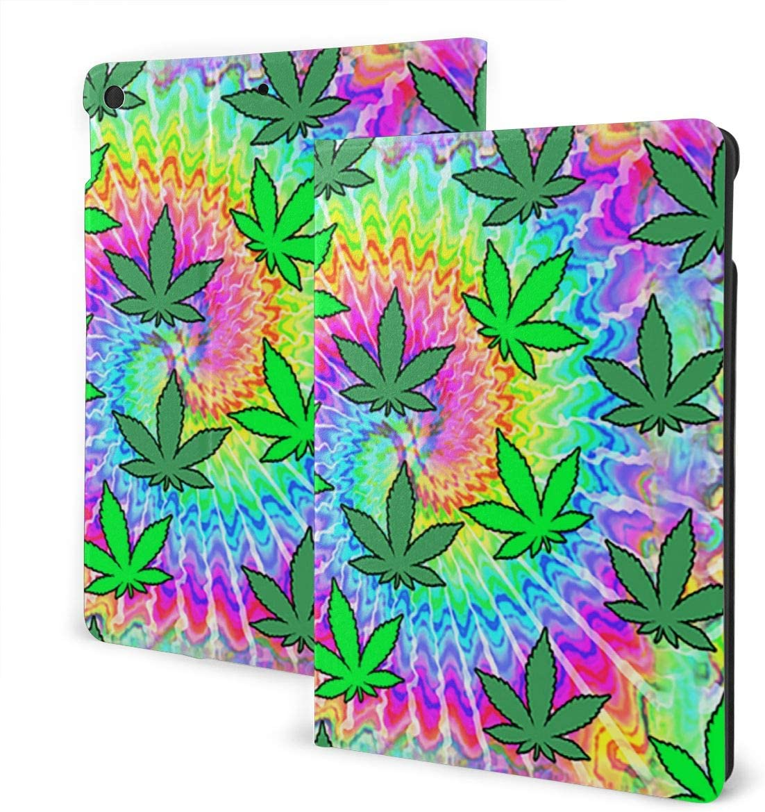 Rspoonflower Free shipping anywhere in the nation Weed Tie Dye Case for 8th Generation 10. iPad 7th Free Shipping Cheap Bargain Gift