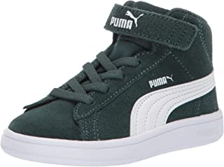PUMA Unisex-Kids' Smash V2 Mid Velcro Sneaker