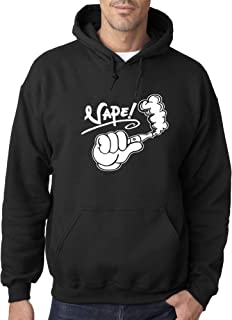 New Way 415 - Adult Hoodie Vape Life Bro Cartoon Hand Unisex Pullover Sweatshirt