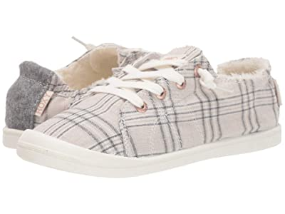 Roxy Bayshore Faux-Fur Lined Shoes (Plaid) Women