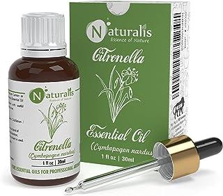 Naturalis Essence of Nature Citronella (Citronella JAVA Type) Essential Oil for Mosquito Repellent and Refreshing Aroma - ...