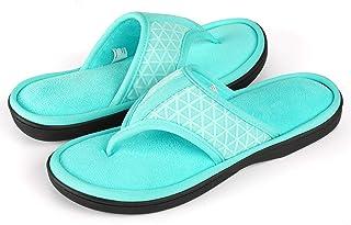 75aca510b ULTRAIDEAS Women s Memory Foam Flip Flop Slippers with Cozy Terry Lining