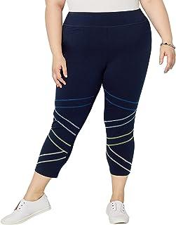 Avenue Women's Contrast Stitch Capri Active Legging